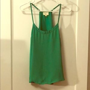 Lulus Kelly green blouse